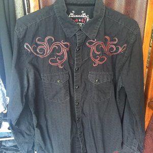 Wrangler Rock 47 snap button western shirt L
